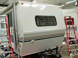 Owatonna RV Services siding replacement